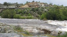Dos de las paradas de la ruta estaban separadas por el río.