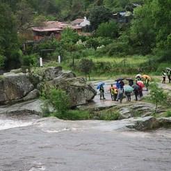 En este lugar se localizaron tres paradas para explicar la acción del río.