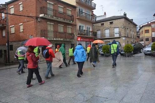 La ruta se inició desde la plaza de Burgohondo.