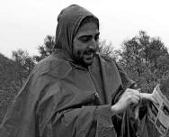 Pablo, explicando su parte a pesar de la lluvia...