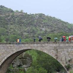 El puente de los Arcos de Burgohondo nos permitía cruzar el Alberche para seguir la ruta.