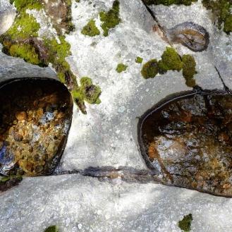 Marmitas de gigante en la cabecera del Alberche.
