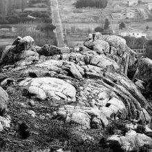 Al fondo, el núcleo de población de Villaviciosa, perteneciente a Solosancho