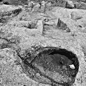 Vista de algunas formaciones desde la parte de superior del altar de los sacrificios