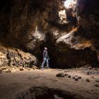 #Geopostales | Tubo volcánico en el desierto de Mojave (California, USA)