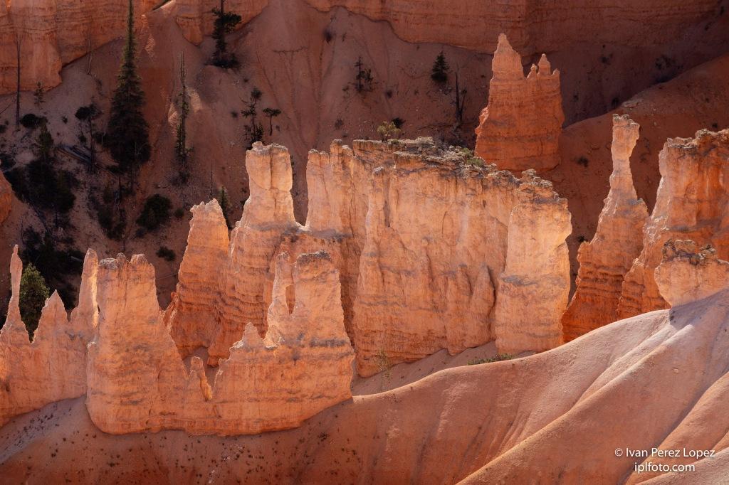 Detalle de las cárcavas en el paisaje kárstico del Bryce Canyon National Park, Utah, Estados Unidos. © Iván Pérez López (iplfoto.com)